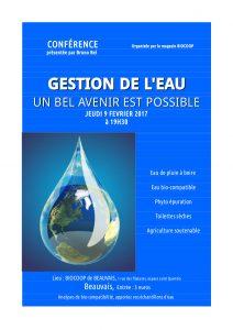 affiche conférence eau biocoop beauvais