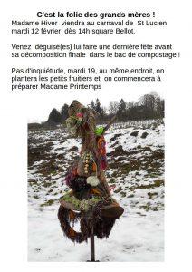madame hiver au carnaval