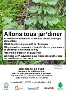 Tous aux jardins : Allons tous jar'diner 14 avril